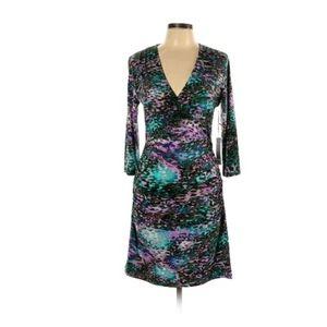 NWT Jennifer Lopez Women Purple Casual Dress L